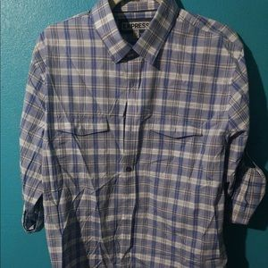 Men's Fitted Plaid Casual Button Down